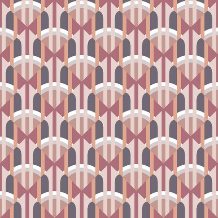 Abstract geometric background in art nouveau retro style. Seamless decorative pattern. Ornament mosaic wallpaper. Vector illustration. Imagens - 128889091