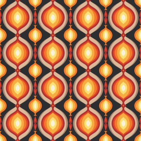 Mid-century modern art vector background. Abstract geometric seamless pattern. Decorative ornament in retro vintage design style. Imagens - 128889095