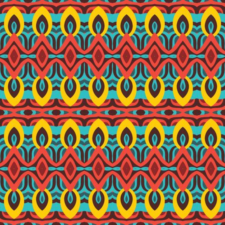 Abstract geometric background. Seamless vector pattern. Ornament illustration with vertical stripes. Boho ethnic style.