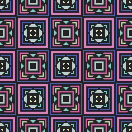Abstract background seamless pattern. Carpet ethnic ornament. Exotic boho style. Vector illustration. Graphic design. Ilustração