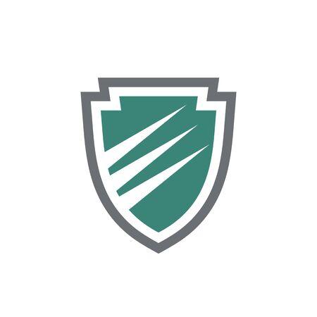Protection shield - vector logo design. Web icon. Ilustração
