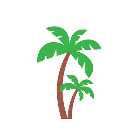 Palm tree - color icon design. Vector illustration. Imagens - 133557293