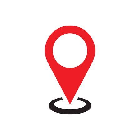 Location - web icon on white background vector illustration for website, mobile application, presentation, infographic. Concept sign. Graphic design element. Ilustração
