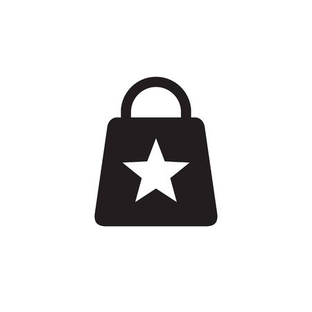 Shopping bag - web black icon design. Vector illustration.