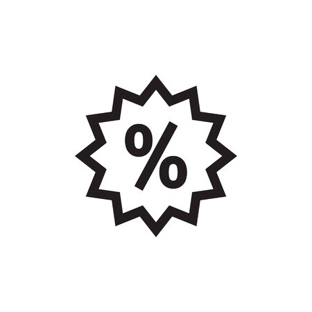 Discount tag icon design. Percent sign in star shape. Vector illustration. Illustration