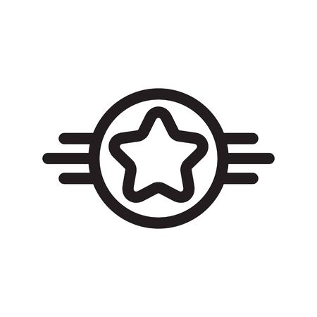 Star rating - icon design in line art style. Award sign. Vector illustration.