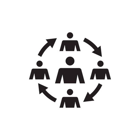 Group of people - vector icon design. Teamwork friendship sign. Social media symbol.