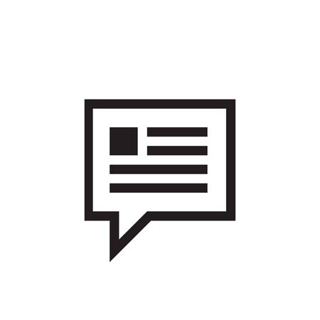 Message speech bubble icon vector design.