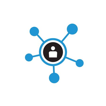 Network vector icon design. Social media sign. Business connection symbol.