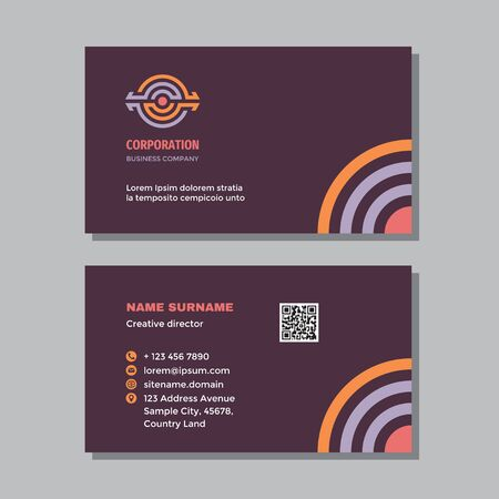Business card template - concept design. Industry technology sign. Power energy visit card branding. Vector illustration. Ilustração