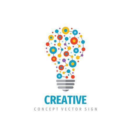 Creative idea - vector logo template concept illustration. Lightbulb icon logo design.