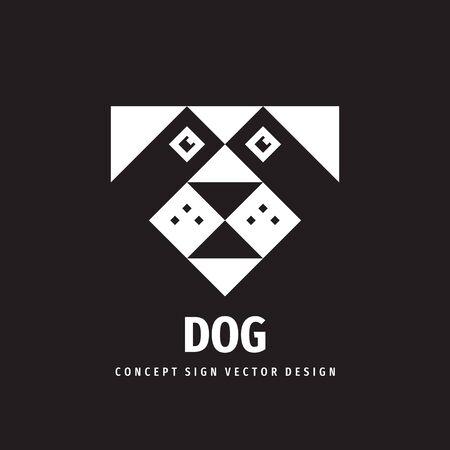 Dog head concept logo design.