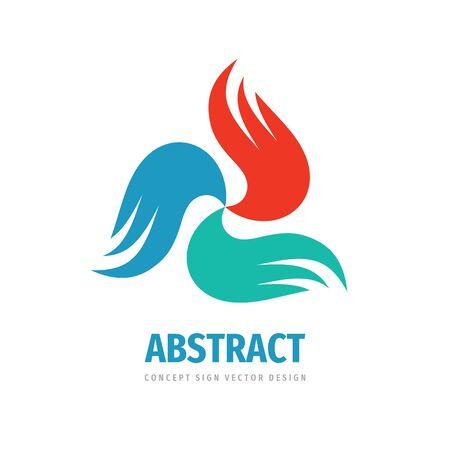 Abstract wings concept logo design. Dynamic creative logo sign. Transport losistic logo symbol. Vector illustration.