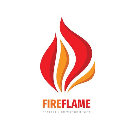 Fire flame vector logo design.