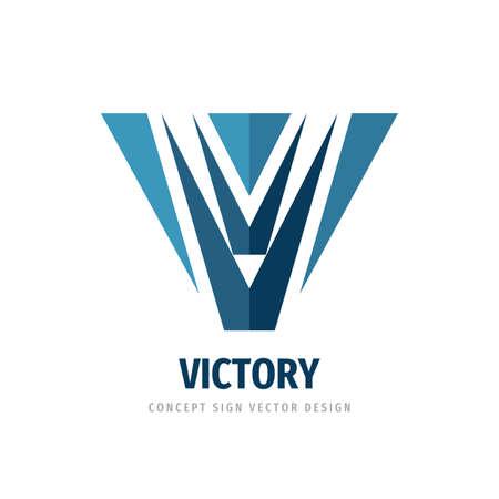 V letter - vector logo template concept illustration. Abstract geometric logo sign. Wings icon logo. Victory logo symbol. Design element. Ilustrace
