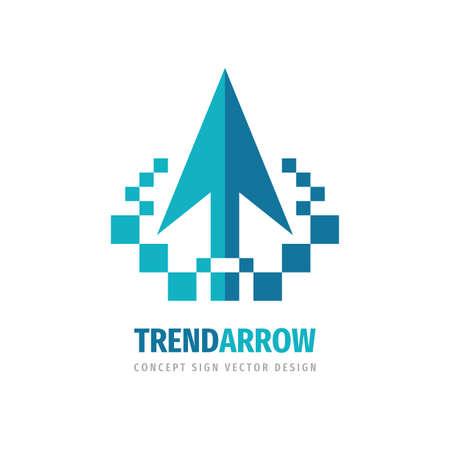 Business trend - vector logo template concept illustration for business company. Arrows logo sign. Investment creative icon logo. Cursor icon logo. Logo design element.