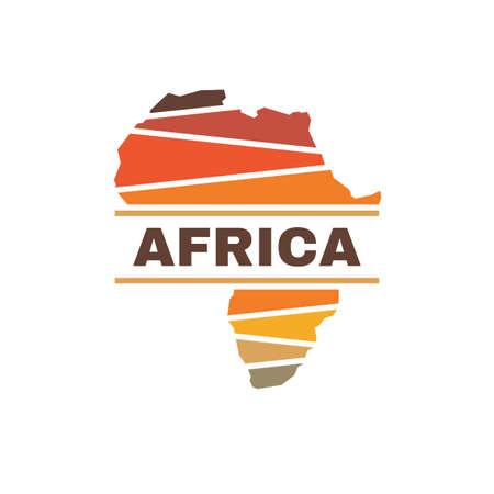 Africa silhouette concept logo design. African continent creative logo sign. Exotic tourism logo symbol. Vector illustration.