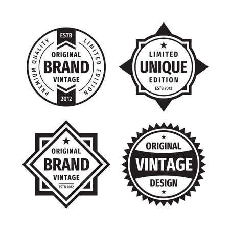 Business badges vector set in retro vintage design style. Ilustración de vector