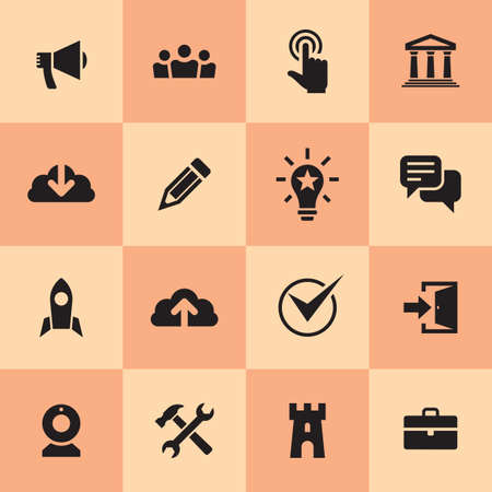 Business icons set. Information concept sign. Web & mobile application symbol. Vector illustration.