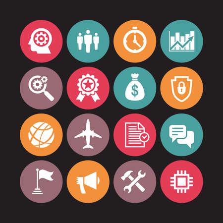 Business icons vector illustration. Concept sign. Design element.