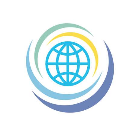 Globe icon on white background vector illustration for website, mobile application, presentation, infographic. Eart planet concept logo sign. Graphic design element. Illusztráció