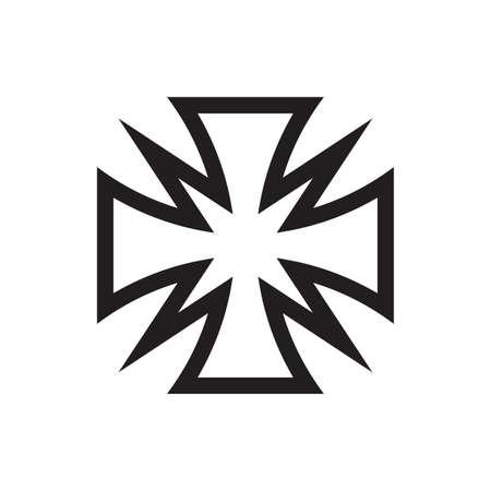 Cross icon design. Maltese sign. Vector illustration. Vecteurs