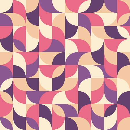 Background vector abstract design. Geometric seamless pattern in lilac, violet, pink, beige colors. Decorative mosaic wallpaper. Vector illustration. Ilustrace