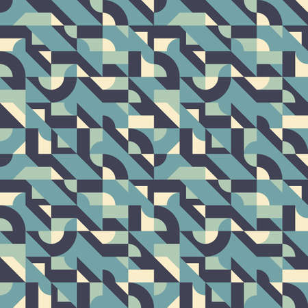Background vector abstract design. Geometric seamless pattern in blue color. Decorative mosaic wallpaper. Vector illustration. Ilustrace