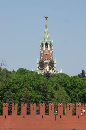 spassky: Moscow, the Kremlin, kind on the Spassky tower through wall