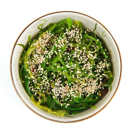 roasted sesame: Seaweed salad with roasted sesame seeds Stock Photo