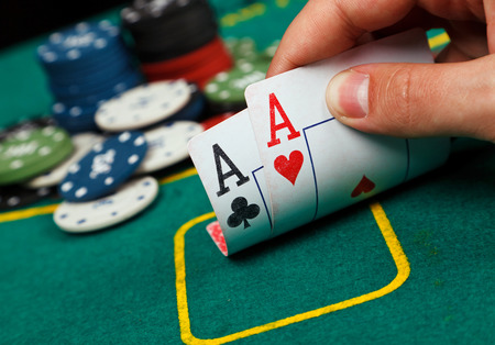 poker chips: Poker Aces pair