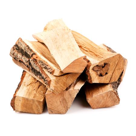薪は、白い背景で隔離のスタック 写真素材