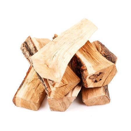 Pila di legna da ardere isolato su sfondo bianco Archivio Fotografico - 38266135