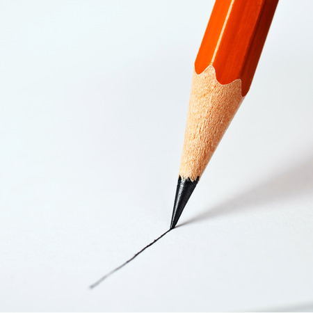 pencil symbol: pencil draws a straight line on a white background