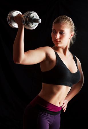levantando pesas: el levantamiento de pesas mujer