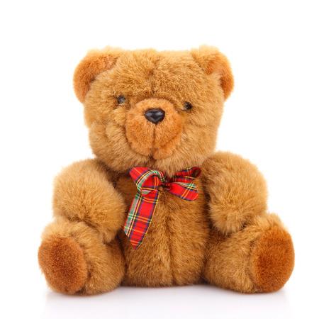 osos de peluche: juguete del oso de peluche aislado en blanco Foto de archivo
