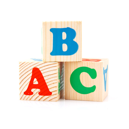play blocks: ABC Play Blocks isolated  on white