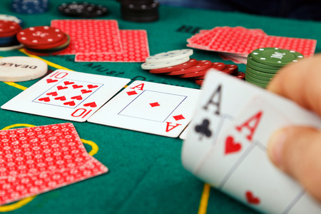 texas hold em: Poker Aces pair