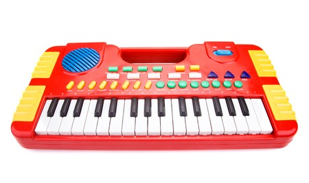 electronic piano: Children toy piano Stock Photo
