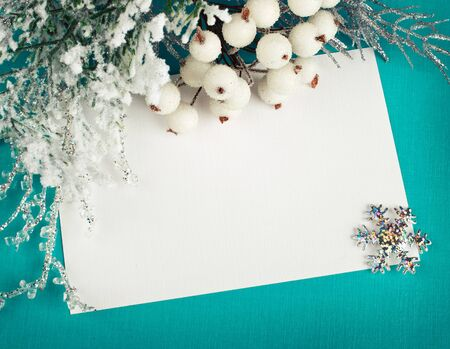 Christmas decoration with greeting cards