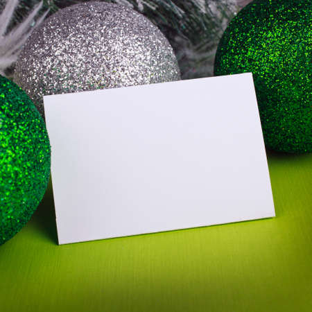 greeting christmas: Christmas decoration with greeting cards