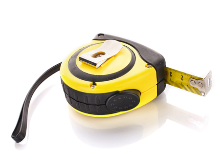 tools icon: measuring tape for tool roulette  on white background