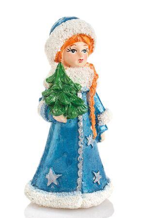 snow maiden: Snow Maiden toy isolated