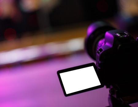 camera operator: Camera Operator, Camera, Movie Camera near the podium Stock Photo