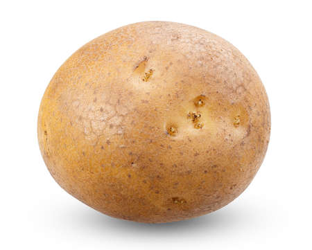 spud: potato isolated on a white background with clippin path, high detailed studio shooting