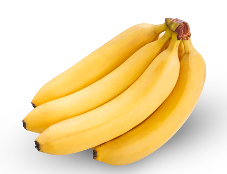 abroad: Bunch of bananas isolated on white background, With clipping path
