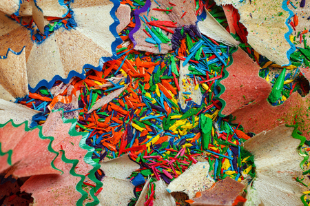 shavings: colored pencil shavings background