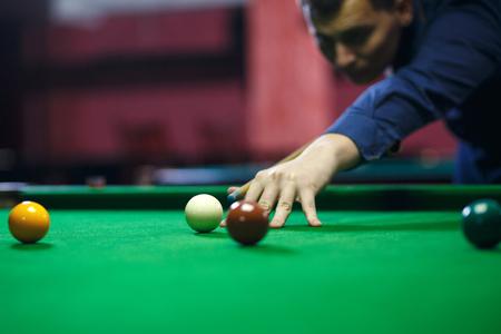 Ball et billard joueur Banque d'images