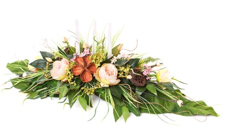 flower arrangement to greeting loved ones