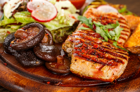 grill: food concept - mushrooms grill